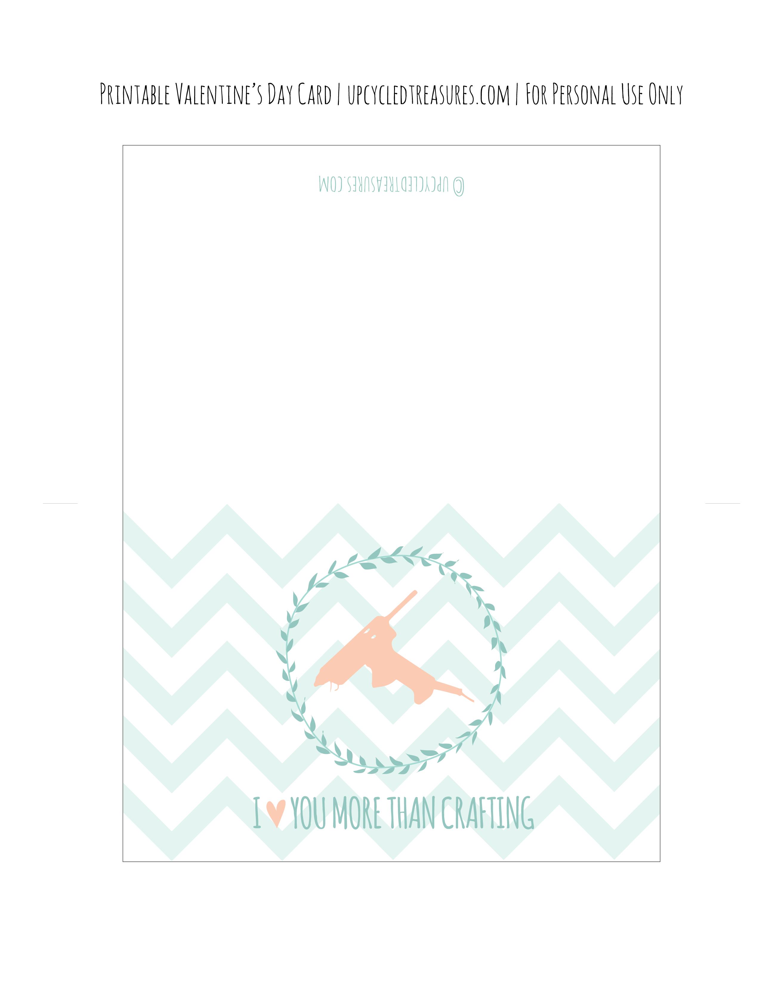 FREE Valentine Card Printable – Valentine Card Printables Free