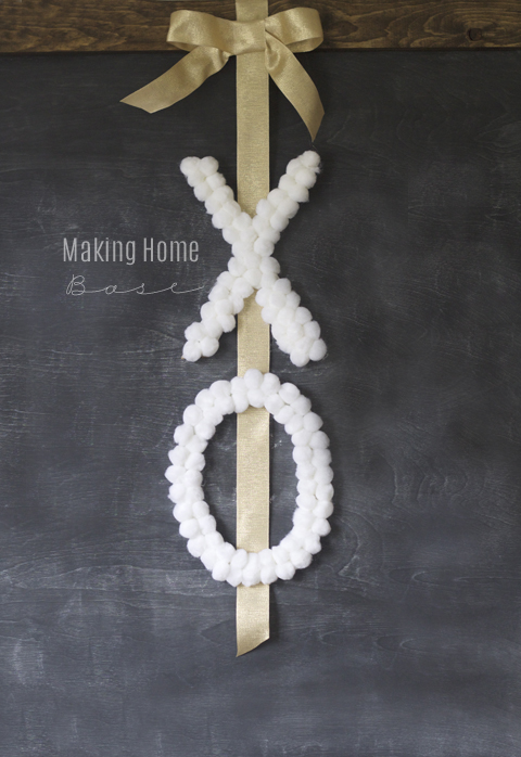 20 Last Minute Valentine Craft Ideas | DIY X O Wreath | Making Home Base
