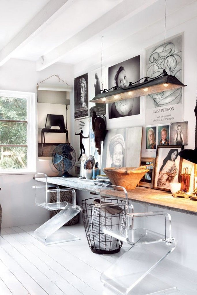 Creative Workspace Ideas upcycledtreasures.com