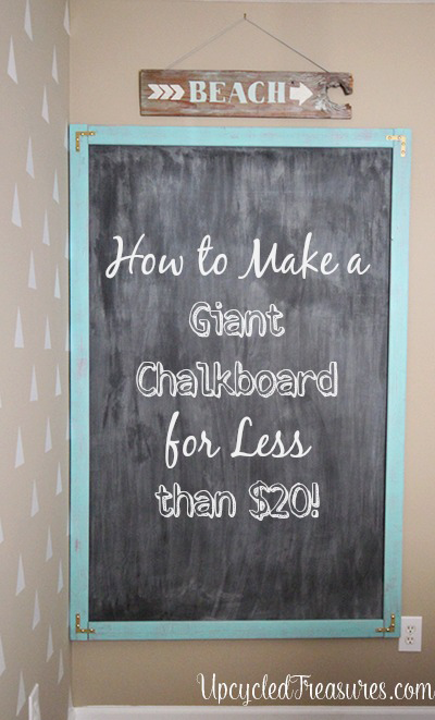 make a giant chalkboard