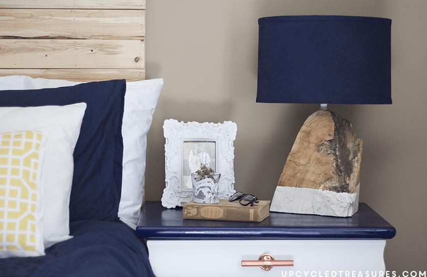 DIY Modern Rustic Wood Lamp Mountain