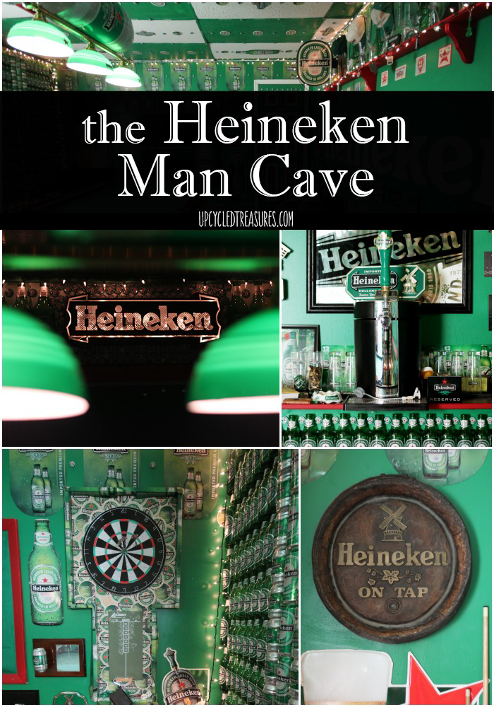 The Heineken Man Cave - UpcycledTreasures.com