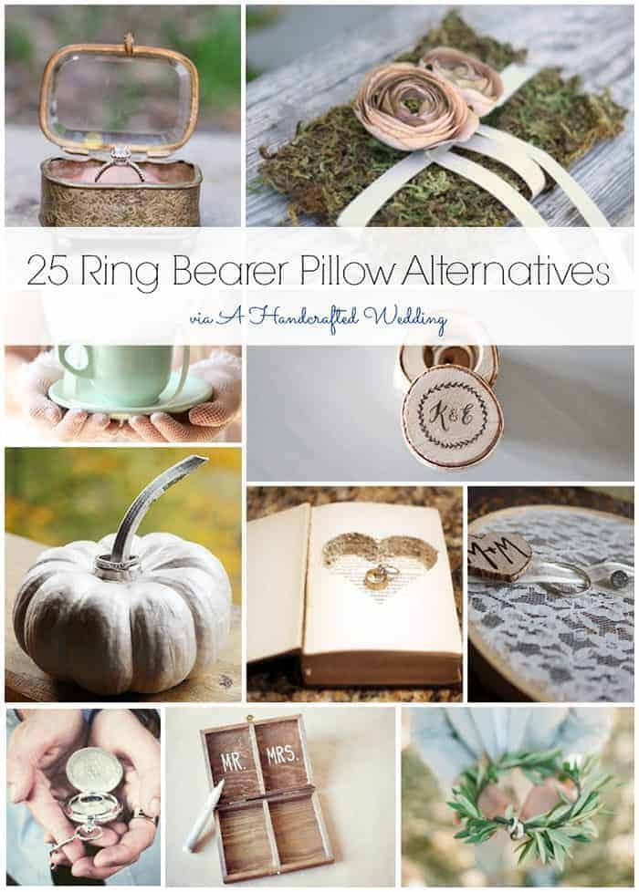 From rustic to vintage, beach-inspired to bohemian, here are 25 ring bearer pillow alternatives that can be put together on even the tiniest of budgets.