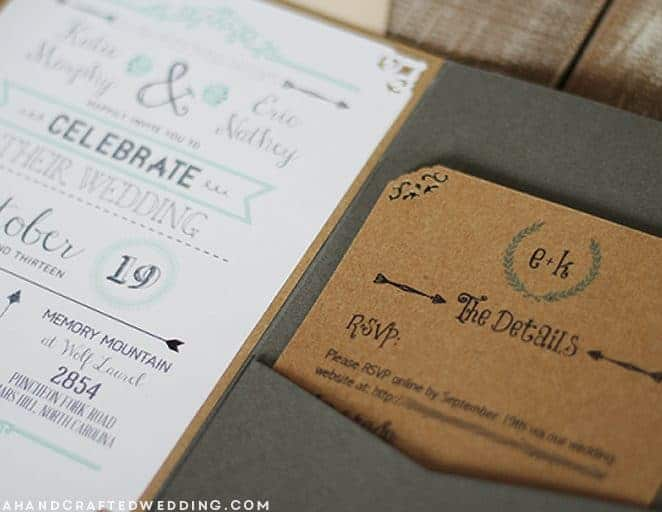 Take a look at these 11 FREE wedding invitation templates for brides on a budget or short on time! Mountainmodernlife.com