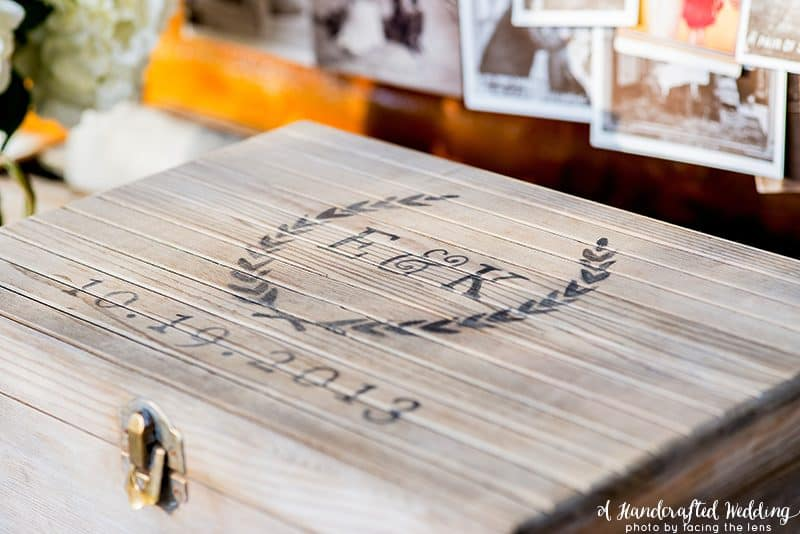 Wooden box with DIY stain