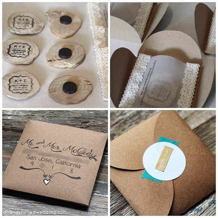 Looking for a creative Save the Date idea? Check out how to Make Wood Slice Save the Date Magnets | MountainModernLife.com