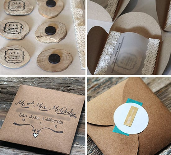 Wood slice save the date magnets mountain modern life for Diy save the date magnets template