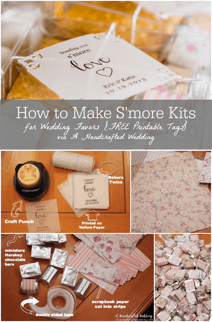 How to Make DIY S'more Kits. Such a fun idea for DIY favors at a rustic wedding or summer parties! Plus download FREE printable tags! MountainModernLife.com
