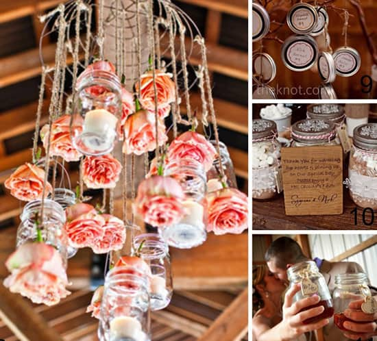 mason jar wedding ideas collage 3 mountainmodernlife.com