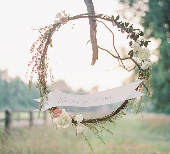 romantic wedding wreath