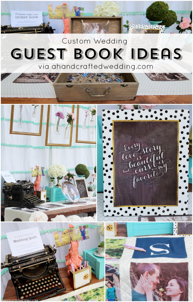 Looking for creative guest book ideas for your wedding? Check out this list of custom wedding guest book ideas | MountainModernLife.com