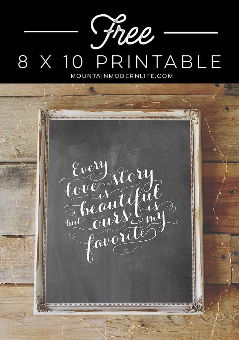 FREE Chalkboard Love Quote Printable