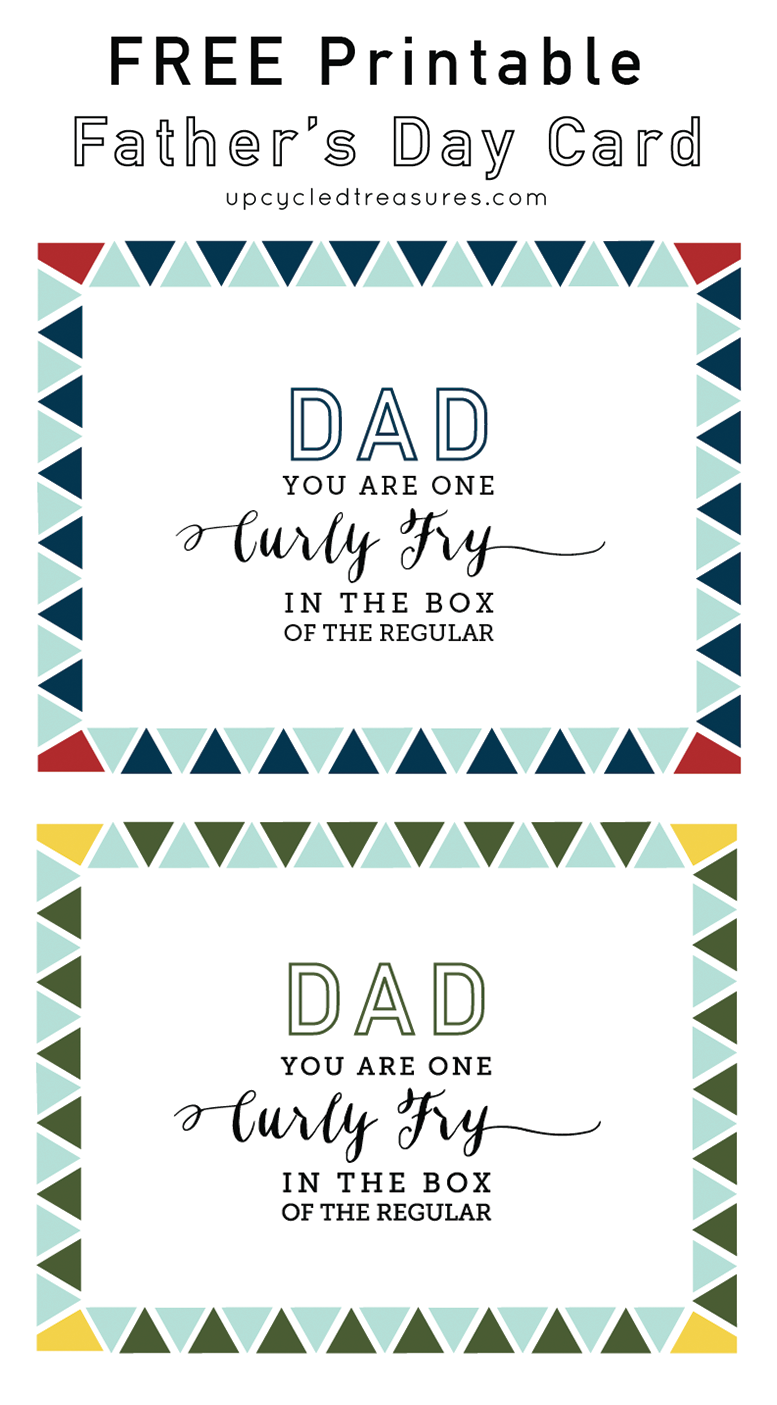 FREE Printable Father's Day Card | MountainModernLife.com