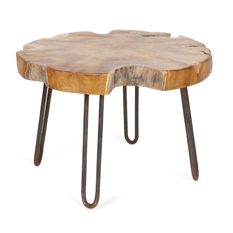 Diy hairpin style legs on rustic stool for Table zara home