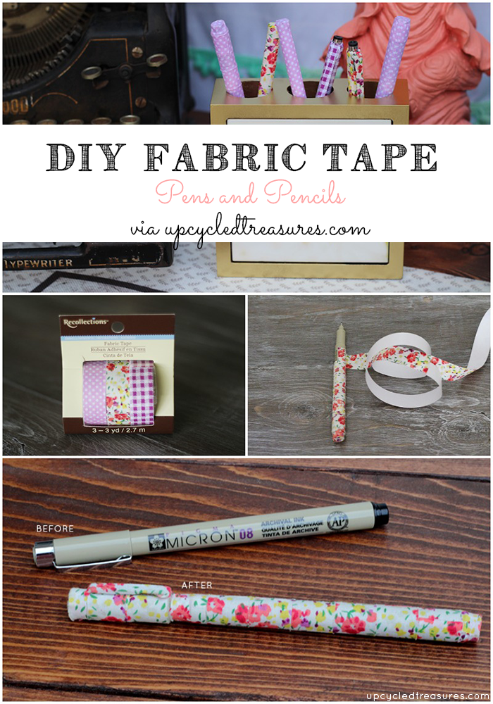 Have old pens and pencils lying around or want to spruce up some new ones? Check out how to create DIY Fabric Tape Pens & Pencils! UpcycledTreasures.com