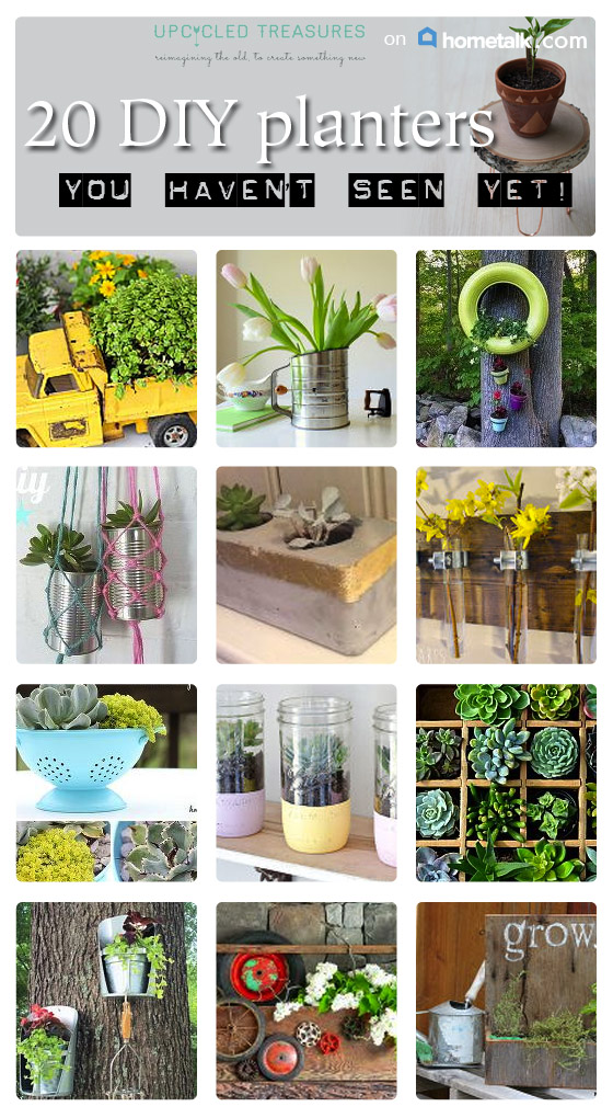 Looking for a more out of the box way to pot your plants? You have to check out these 20 Creative DIY Planter Ideas | MountainModernLife.com