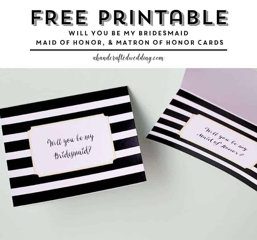 Need to invite those special guests? Check out this FREE Printable Will You Be My Bridesmaid or MOH Cards | MountainModernLife.com