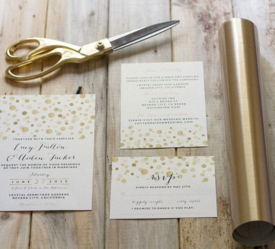 How To Add Gold To DIY Wedding Invitations