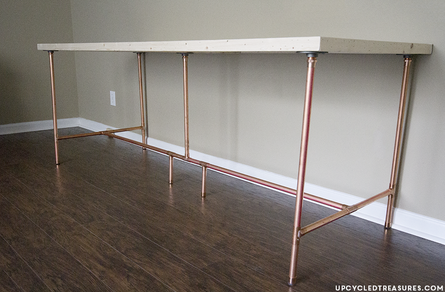 how to build a copper pipe desk mountain modern life