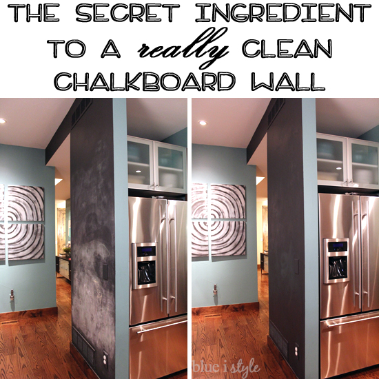 blue i style - ChalkboardBeforeAfterCleanedWithCoke