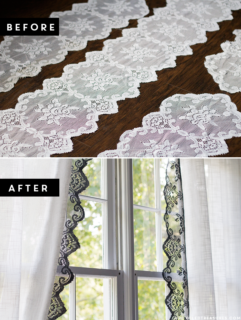 Diy Lace Curtains From Upcycled