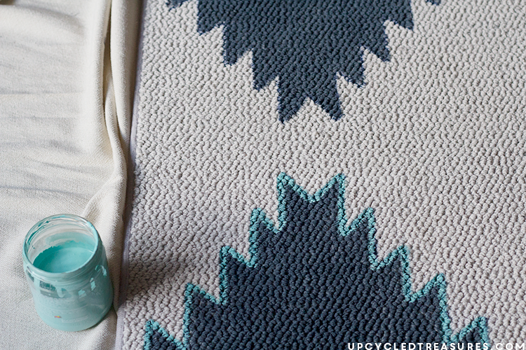 DIY Painted Rug  MountainModernLifecom