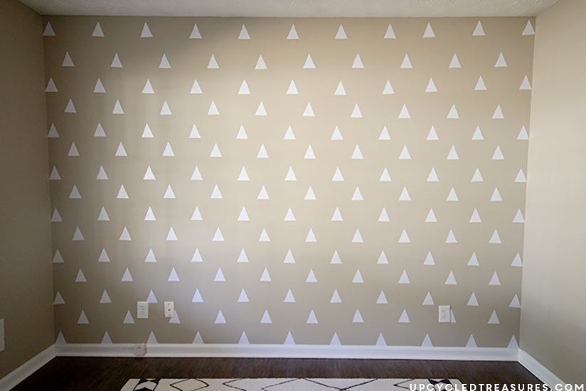 Contact Paper On Walls diy triangle accent wall for less than $3 mountainmodernlife