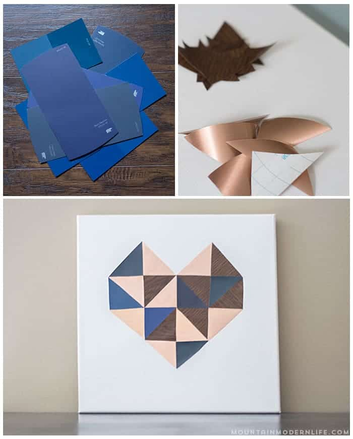 Diy Heart Wall Art Using Contact Paper Mountain Modern Life