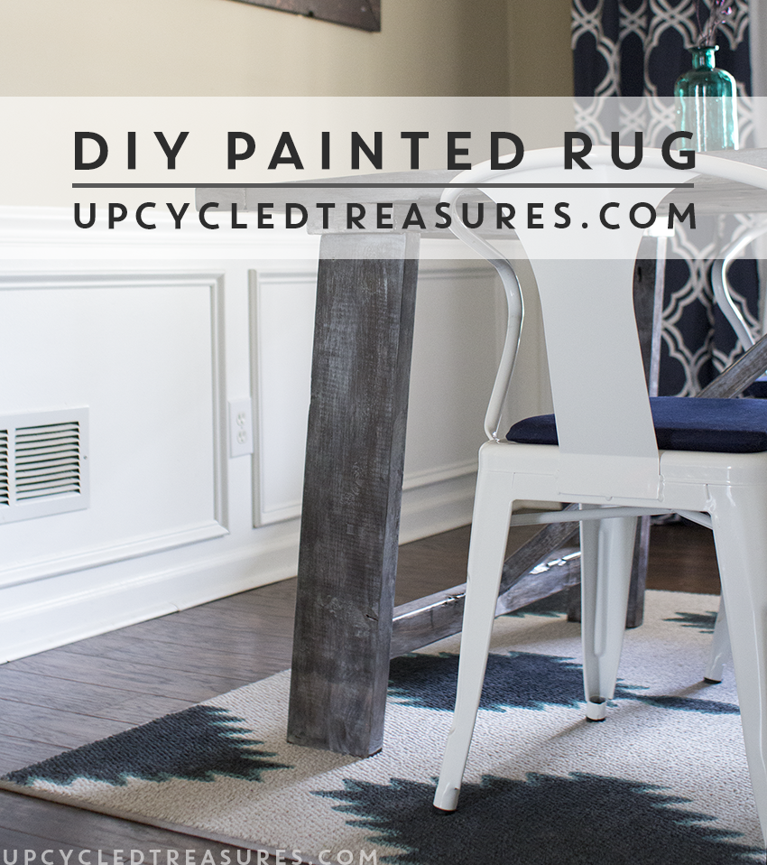 Diy Painted Rug For Your E Mountainmodernlife