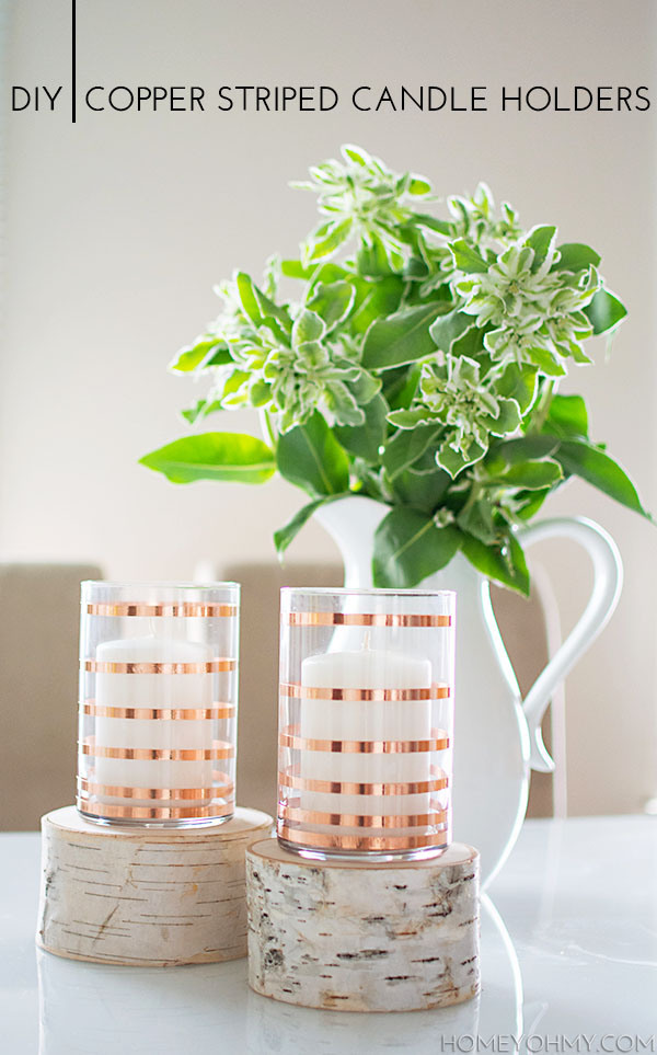 DIY-Copper-Striped-Candle-Holders