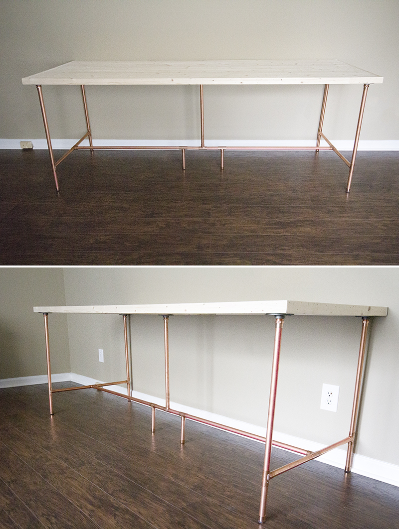 DIY Copper Pipe Desk