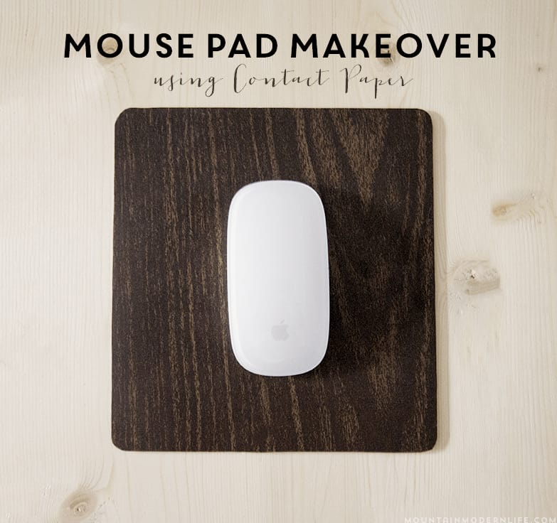 Don't toss out that boring mouse pad! See how easy it was to give my mouse pad a makeover using contact paper | MountainModernLife.com
