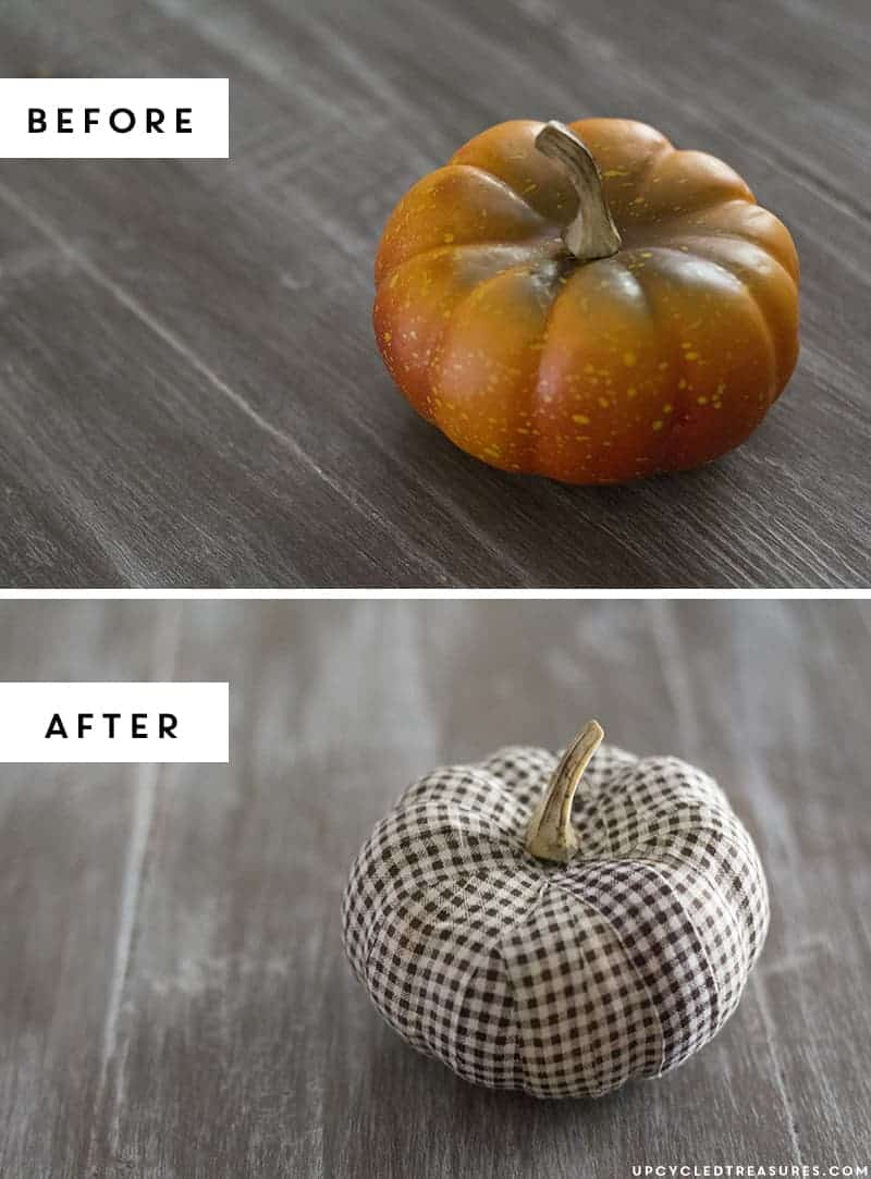 DIY Fabric Tape Pumpkins