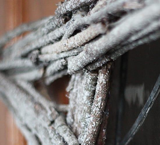 close up star twig wreath mountainmodernlife.com
