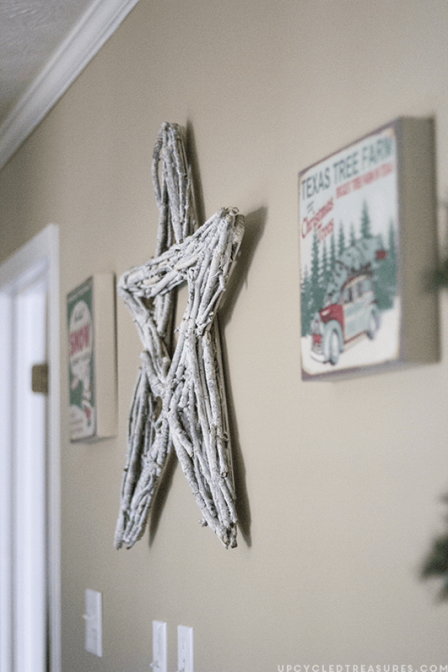 How to make a twig star wreath for Twig decorations home