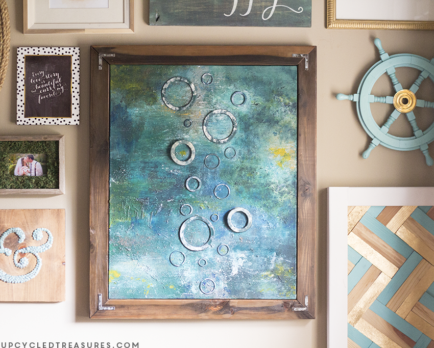 DIY Abstract Canvas Art | MountainModernLife.com