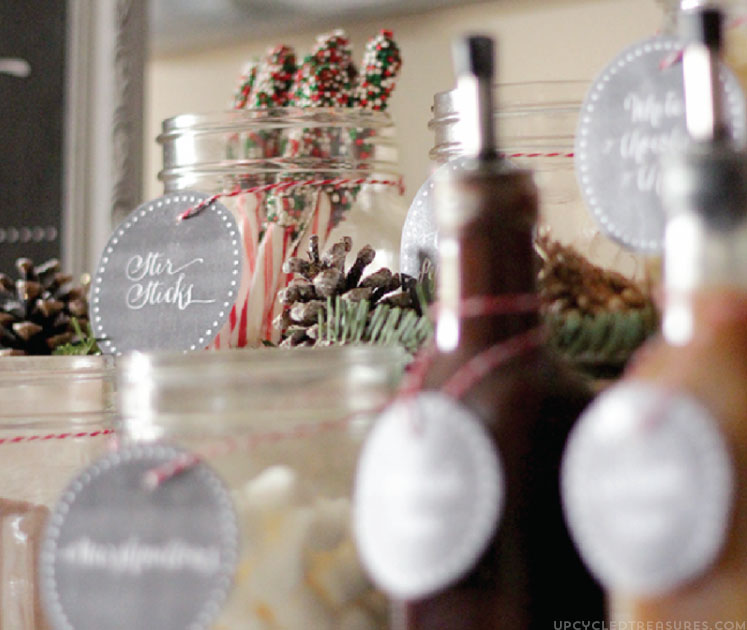 """FREE Hot Chocolate Bar Labels to go along with my free """"Baby it's Cold Outside"""" hot chocolate bar printable! MountainModernLife.com"""
