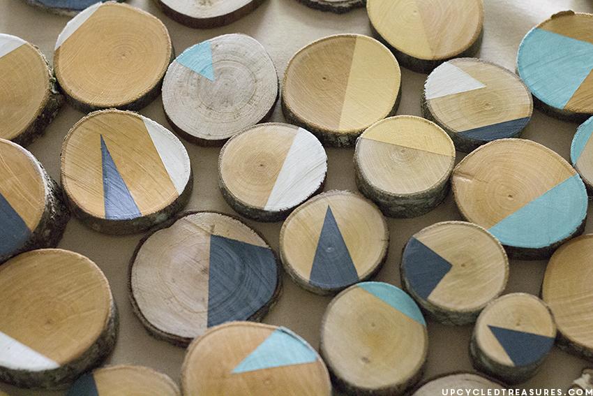 how-to-make-modern-wood-slice-wall-art-upcycledtreasures