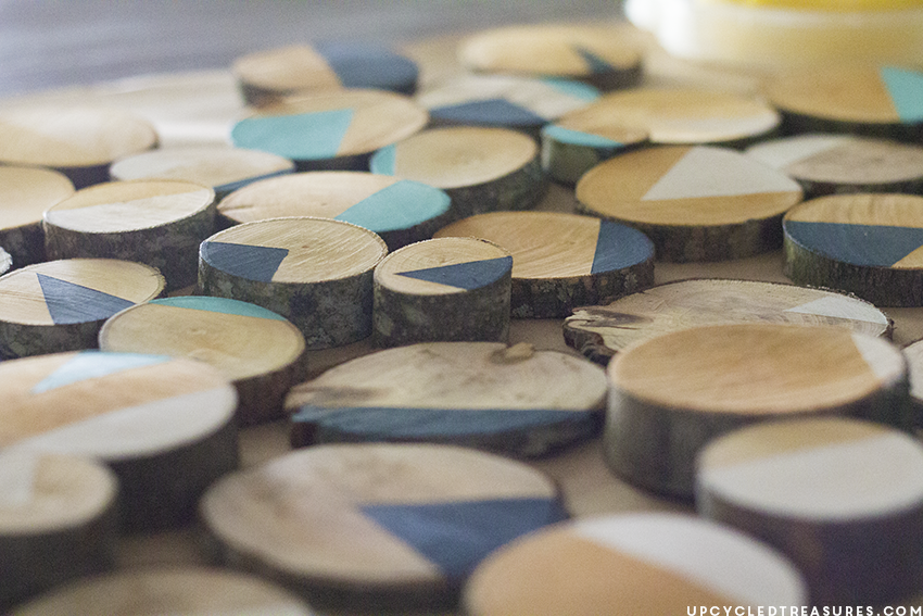 painted-wood-slices-upcycledtreasures