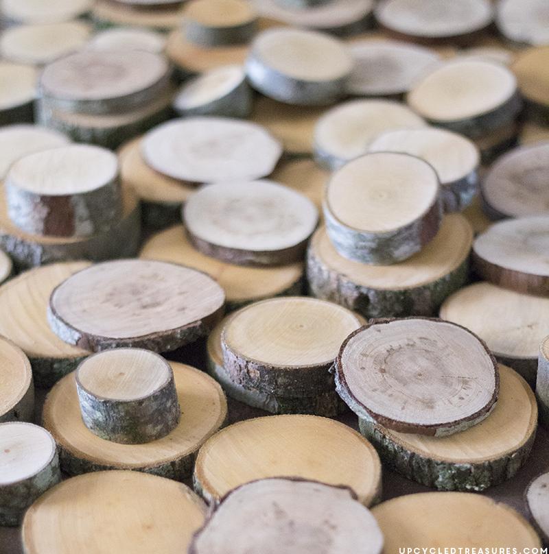 sanded-wood-slices-for-diy-modern-rustic-wood-slice-art-upcycledtreasures
