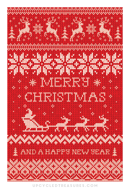 FREE-Christmas-Card-Printable-Red-Sweater-upcycledtreasures