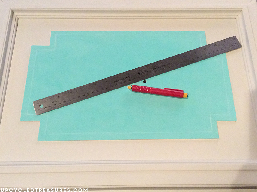 creating-outline-for-liquid-leaf-on-armoire-cabinet-door-upcycledtreasures