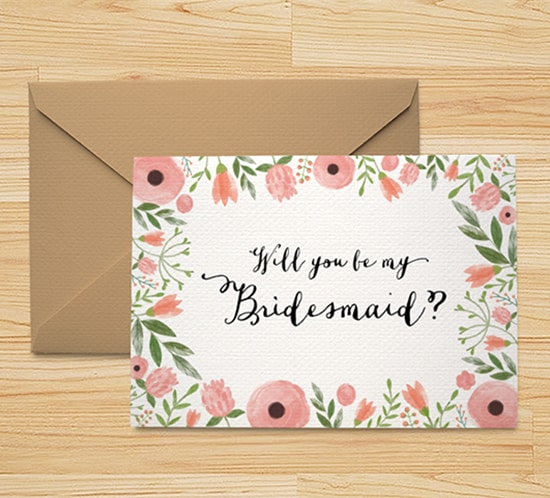 Massif image for free printable bridesmaid card