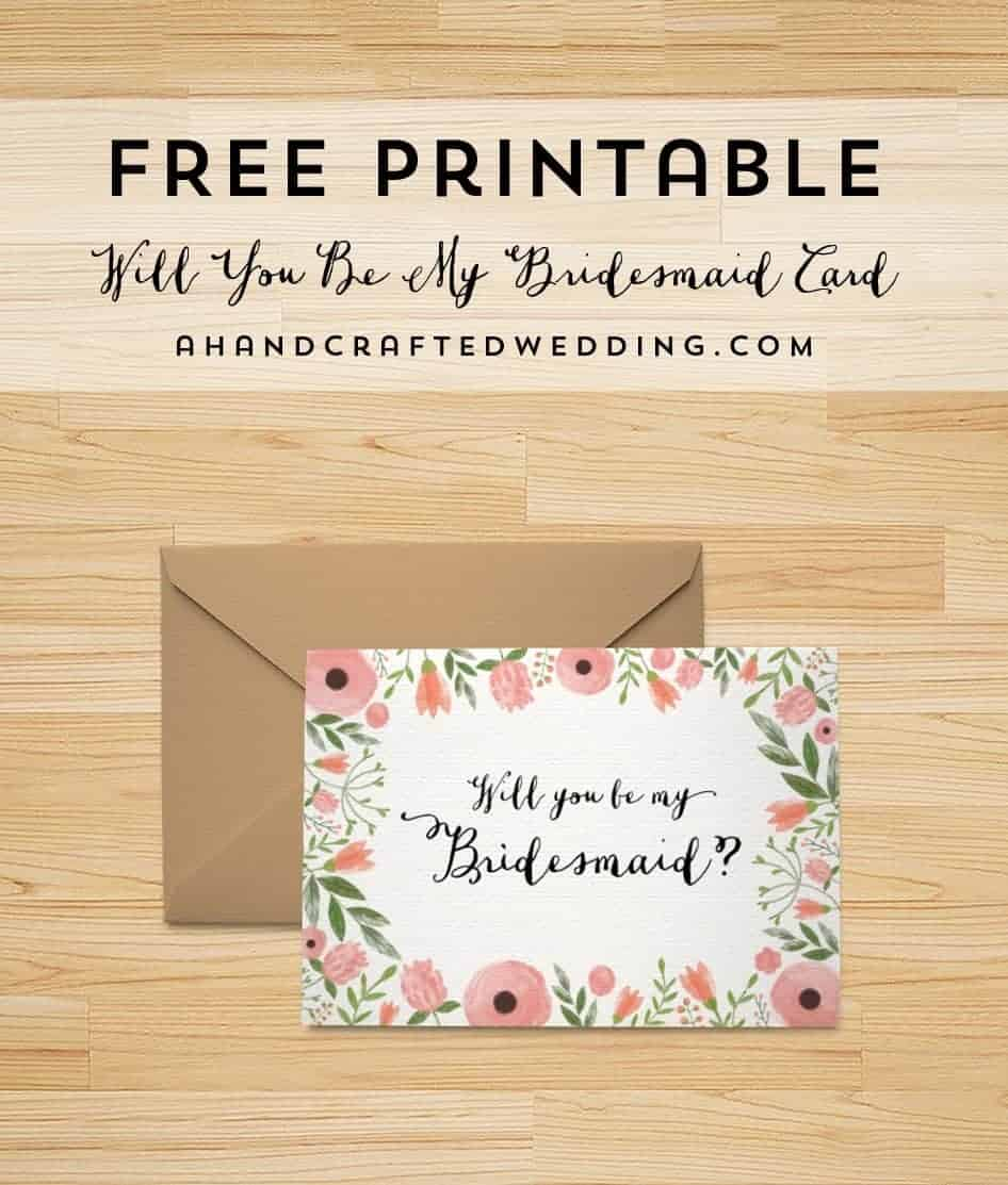 Crafty image intended for bridesmaid proposal printable