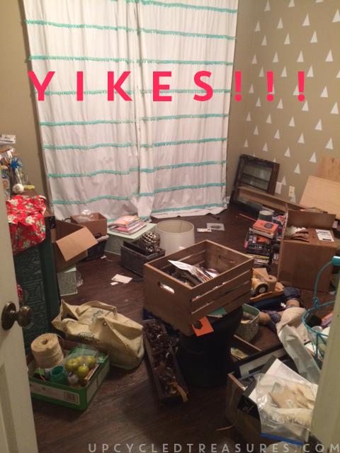 yikes - craft room before photo-don't-judge-upcycledtreasures