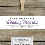 FREE Printable Vintage Inspired Wedding Program Template | MountainModernLife.com