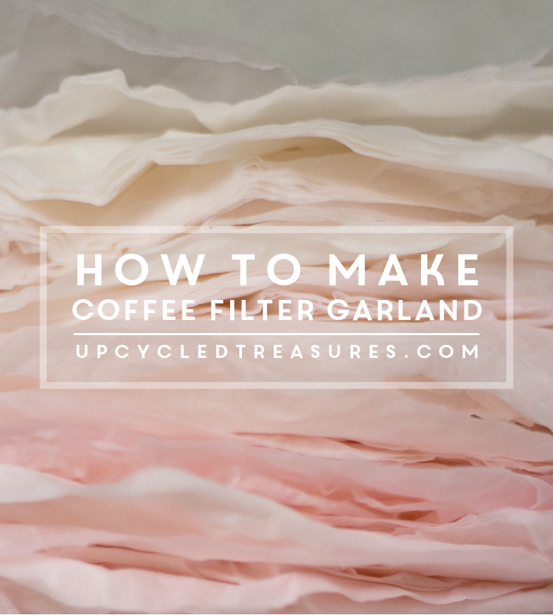 DIY Coffee Filter Garland - Craft it up with coffee filters to create some fun and whimsical garland! MountainModernLife.com