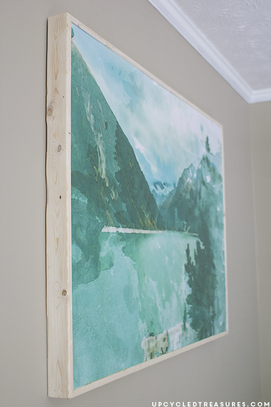 Diy large scale wall art mountain modern life for Large artwork for wall