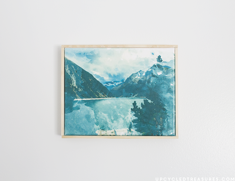 free printable watercolor mountain rustic art. | MountainModernLife.com