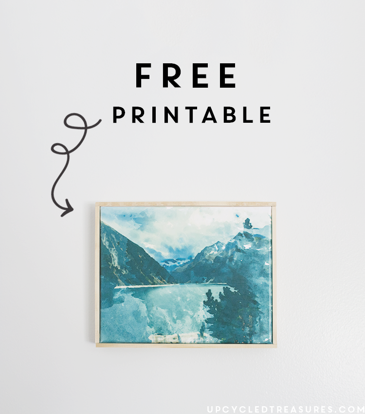 Check out how to Create Easy Canvas Art from a Printed Photo & also download the FREE Printable at the bottom of the page! | MountainModernLife.com